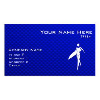 Blue Surfing Girl Business Cards