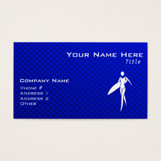 Blue Surfing Girl Business Card
