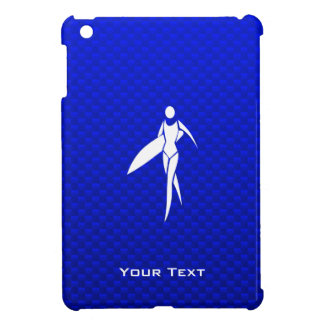 Blue Surfing Girl iPad Mini Covers