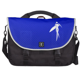 Blue Surfing Girl Laptop Bags