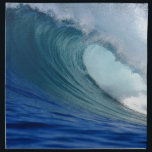 "Blue surfing wave napkin<br><div class=""desc"">Blue ocean surfing wave</div>"