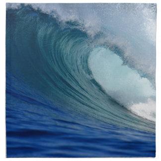 Blue surfing wave napkin