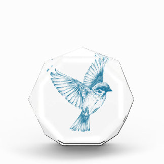 Blue Swallow Acrylic Award