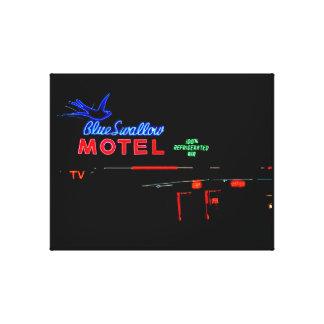 Blue Swallow Motel, Tucumcari, New Mexico Canvas Prints