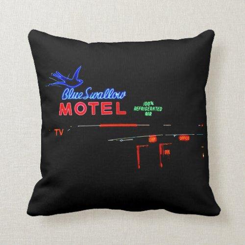 Blue Swallow Motel, Tucumcari, New Mexico Throw Pillow
