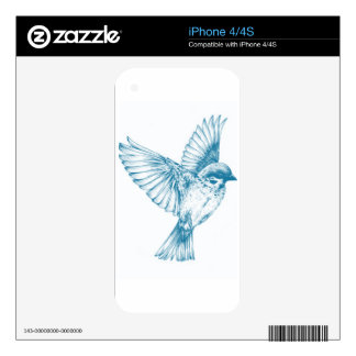 Blue Swallow Skins For The iPhone 4S