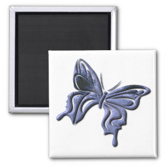 Blue Swallowtail Butterfly Square Magnet Refrigerator Magnets