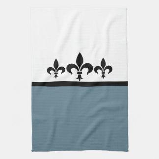 Blue Swanky Fleur De Lis Towel