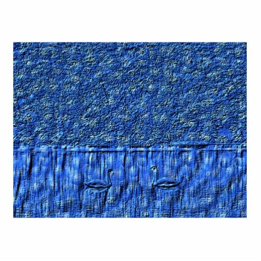 Blue Swans Sculpture Photo Sculpture Magnet