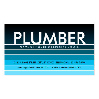 blue swatch PLUMBER Business Card