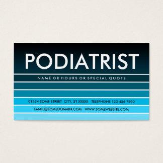 blue swatch PODIATRIST Business Card