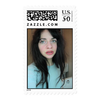 blue sweater girl postage