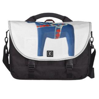 Blue Swedish Dala Horse Computer Bag