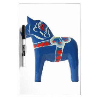 Blue Swedish Dala Horse Dry-Erase Board