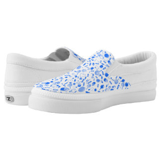 Blue Sweet as candy pattern Printed Shoes