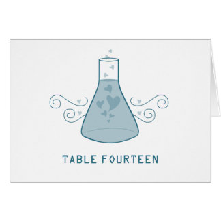 Blue Sweet Chemistry Table Number Card