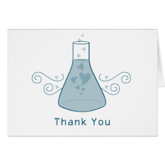 Blue Sweet Chemistry Thank You Card