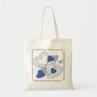 Blue Sweet Hearts Wedding Gift Tote Bag
