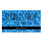 Blue Swimming Pool Pattern Business Card