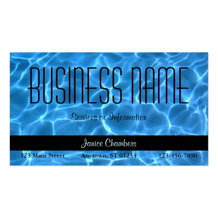 Swimming Pool Service Business Cards : Blue swimming pool pattern business card zazzle