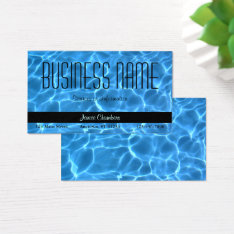 Blue Swimming Pool Pattern Business Card at Zazzle
