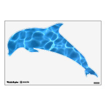 Blue Swimming Pool Pattern Dolphin Wall Sticker