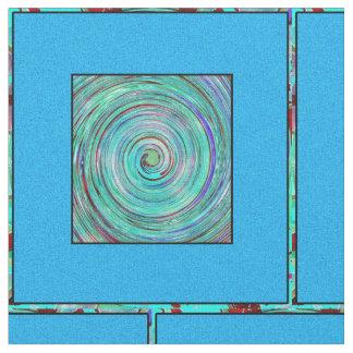 Blue Swirl #4 Fabric