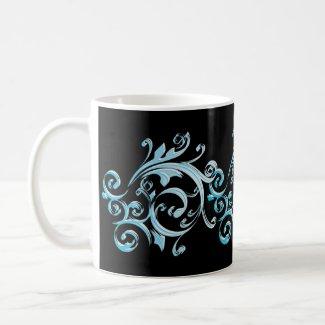Blue Swirl Art Mug zazzle_mug