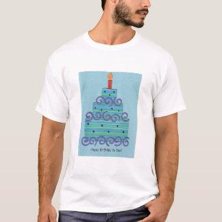 Blue Swirl Birthday Cake Tee