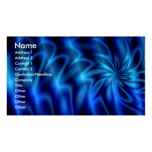 Blue Swirl Business Card