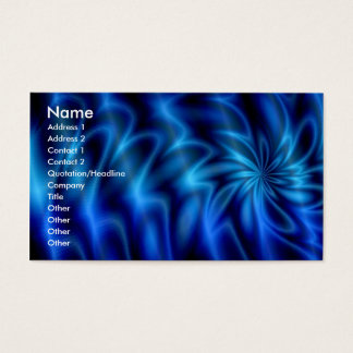 Blue Swirl Business Card