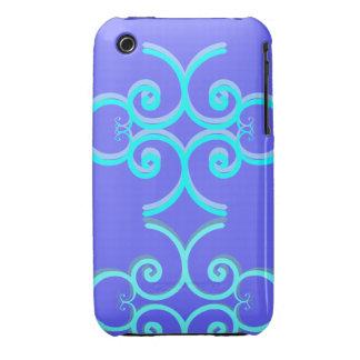 Blue Swirl iPhone 3 Covers