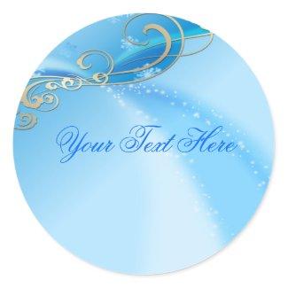 Blue Swirl Christmas Envelope Sticker/seal sticker