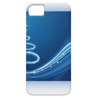 Blue Swirl Christmas Tree iPhone SE/5/5s Case