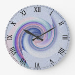 blue swirl clock