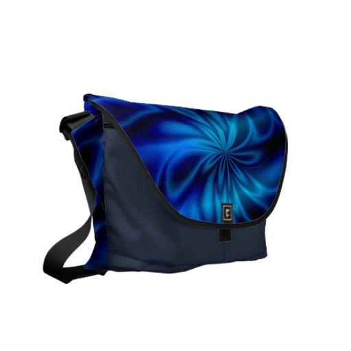 Blue Swirl Courier Bag