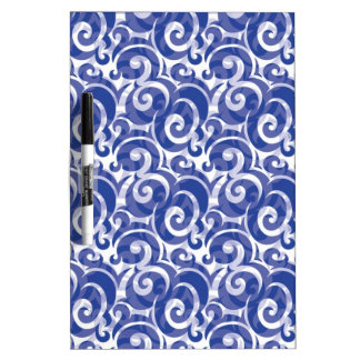 Blue Swirl Dry-Erase Whiteboards