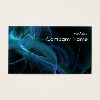 Blue Swirl Fractal Flame Business Card