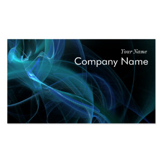 Blue Swirl Fractal Flame Double-Sided Standard Business Cards (Pack Of 100)