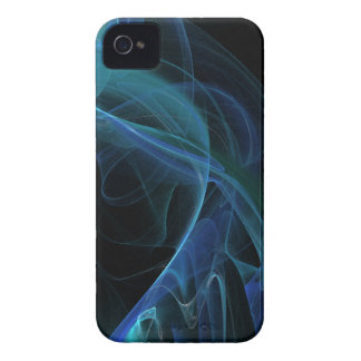 Blue Swirl Fractal Flame iPhone 4 Case-Mate Case