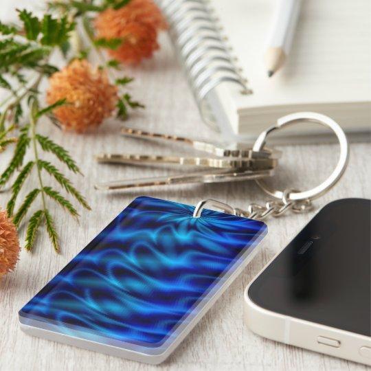 Blue Swirl Keychain