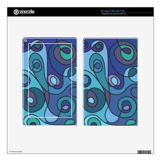 Blue Swirl Kindle Fire Skins
