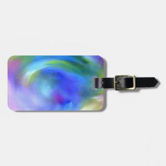 blue swirl luggage tag