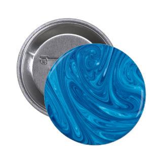 Blue Swirl Marble 2 Inch Round Button