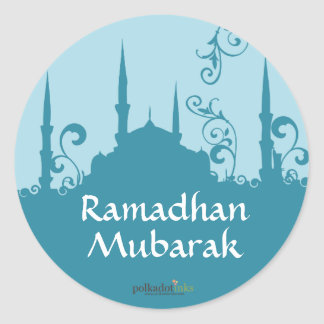 Blue Swirl Mosque Stickers