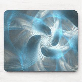 Blue swirl mouse pad