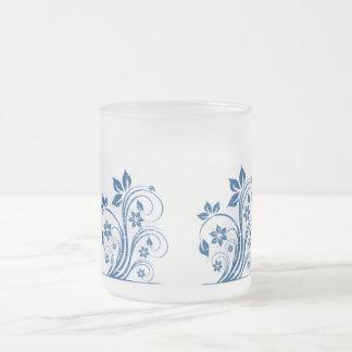 Blue Swirl on Frosted mug