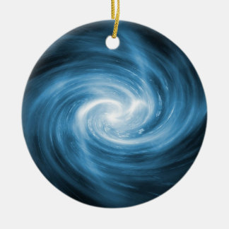 Blue Swirl Ornament