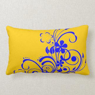 Blue swirl pillow
