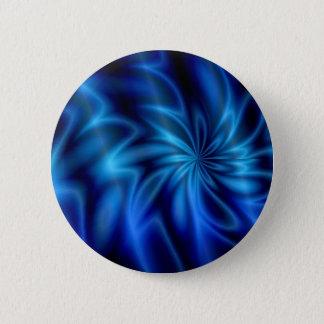 Blue Swirl Pinback Button